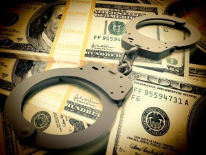 fraud handcuffs close up